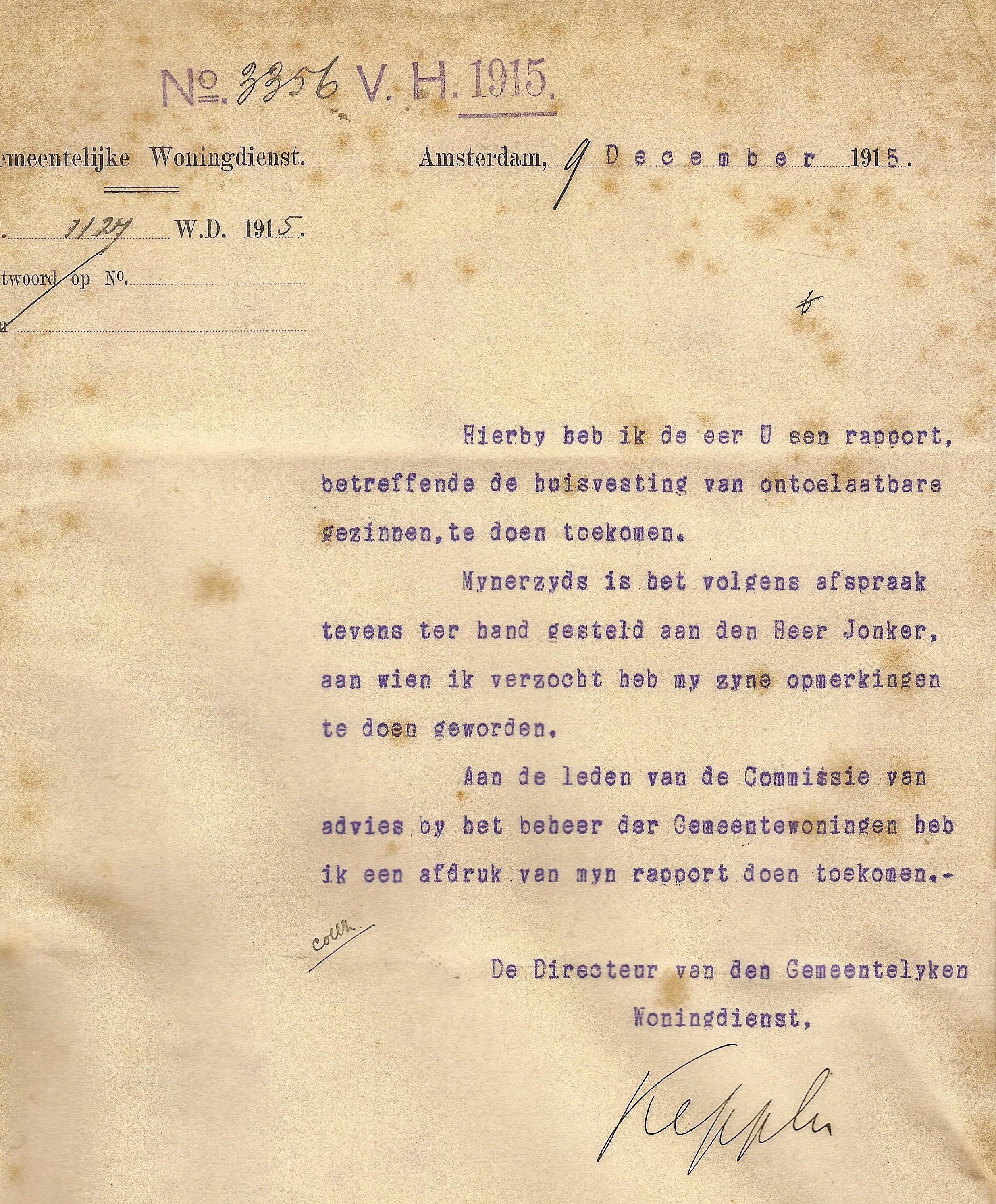 1915 eerste plan